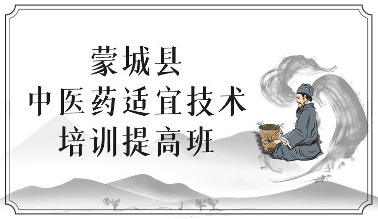 蒙城县中医药适宜技术培训提高班